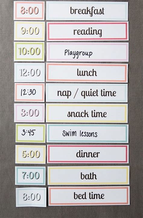 printable setting   simple routine  kids kids schedule toddler schedule parenting