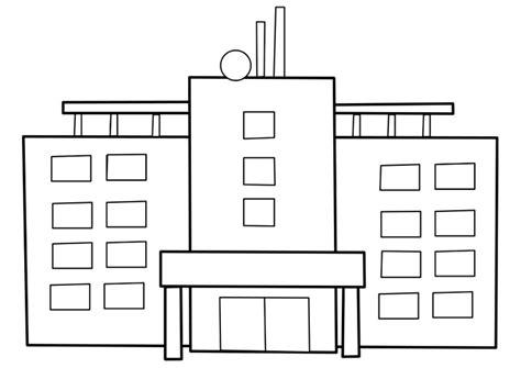 imagenes para colorear hospital dibujo para colorear hospital img 22484