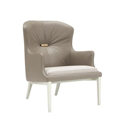 leather and fabric armchair mademoiselle armchair leather fabric grigio chiaro