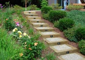 garden steps ideas replace the railroad tie steps su my garden landscape