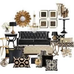 Black White And Gold Home Decor Black White Gold On Pinterest Glamour Bedroom Gold And