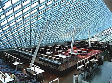 Seattle Library Interior by Wandering Librarians Seattle And Portland