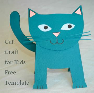cat craft for cut and paste cat archives chelsea rotunno