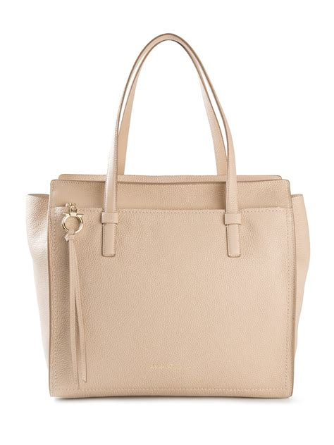 Salvatore Ferragamo Mistico Cork Calfskin Shoulder Bag by Lyst Ferragamo Tote Bag In