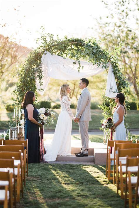 chic garden wedding inspiration in burgundy blush chic