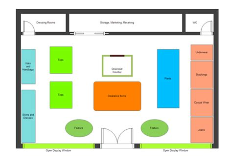 layout online shop floor plan exles