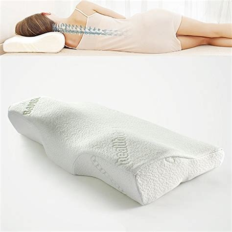 bed pillows for neck pain soft memory foam bamboo sleeping pillow 24 4 x14 x4