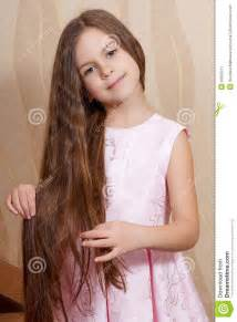 Little girl with a long hair stock image image 35650721