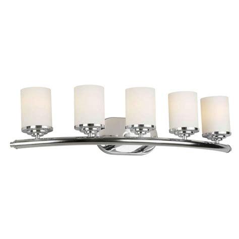 Glass Shades For Bathroom Vanity Lights Talista 5 Light Chrome Bath Vanity Light With Satin Opal Glass Shade Cli Frt5105 05 05 The