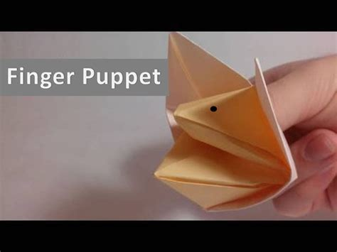 Make Finger Puppets Out Of Paper - how to make finger puppet