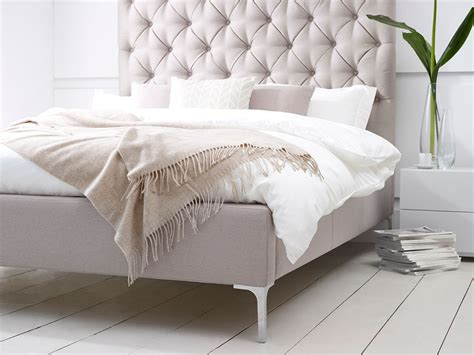 tall beds elise tall buttoned headboard upholstered bed living it up
