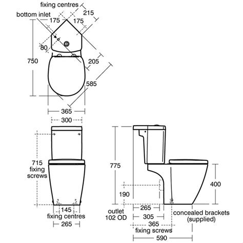 Install Plumbing concept space compact close coupled wc suite corner