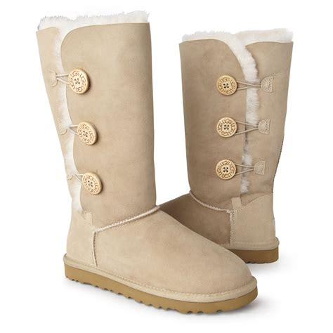 light brown uggs with buttons tall tan uggs with buttons
