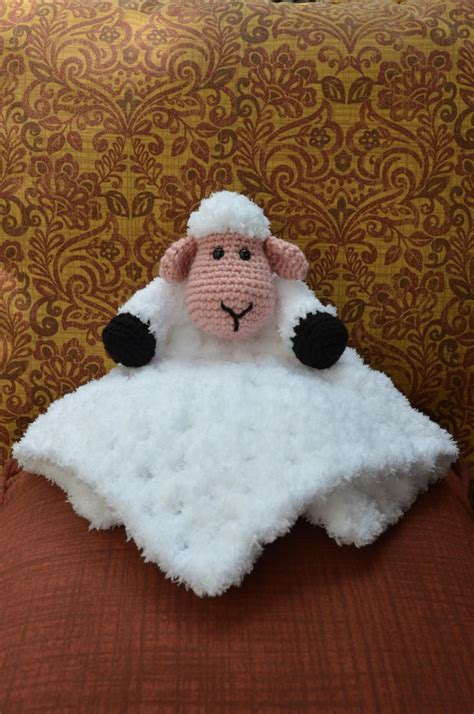 free crochet pattern 80093ad little lamb lion brand yarn 123 best images about cobijas de bebe on pinterest free