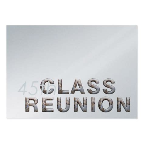 tee 45th class reunion large business cards pack of 100