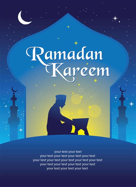 ramadan kareem greeting card template ramadan kareem greeting card template stock vector
