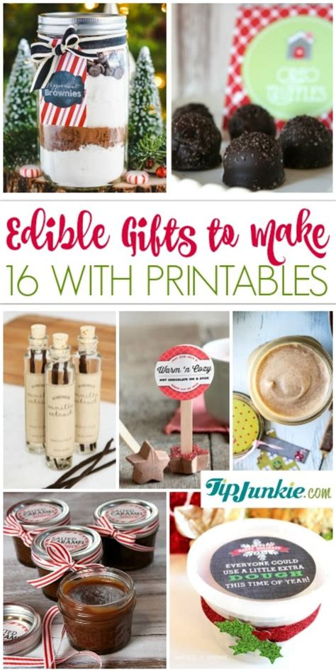 easy edible gifts 16 easy edible gifts to make with printables tip junkie