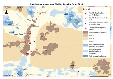 nablus map israel imposes traffic restrictions in southern nablus