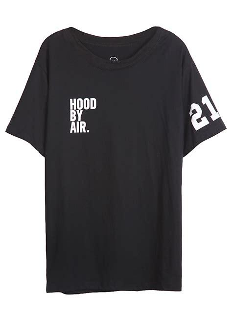 print sleeve t shirt black sleeve letters 21 print t shirt shein sheinside