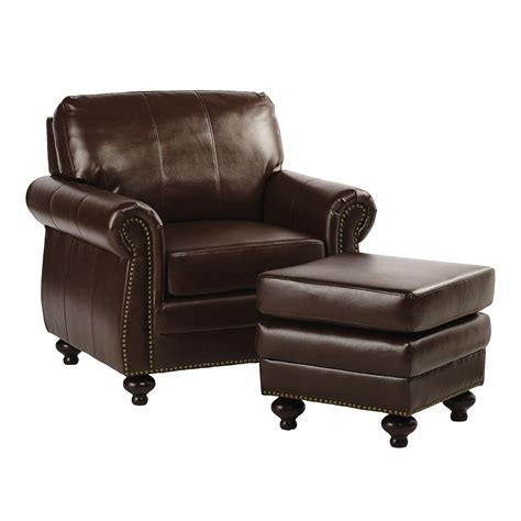 Leather Chair And Ottoman Bonded Leather Library Chair With Ottoman Tree Shops Andthat