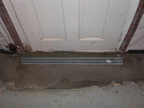 install basement door installing a basement entry drain a concord carpenter