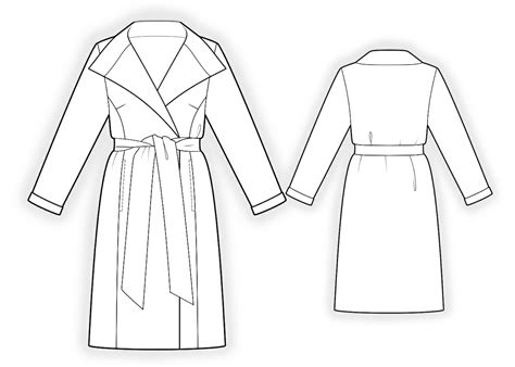 drawing jacket pattern double sided coat sewing pattern 4179 made to measure