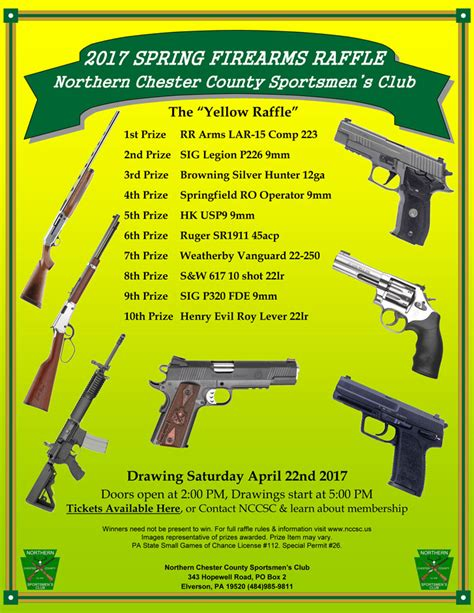 Drawing Vs Raffle by 2017 Gun Raffle 187 Northern Chester County Sportsmen
