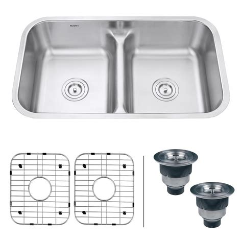 low divide stainless steel sink ruvati undermount stainless steel 32 in 16 50 50