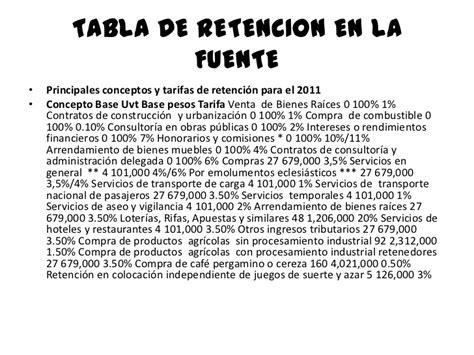 retencion en la fuente contrato de obra civil en colombia diapositivas retencion en la fuente