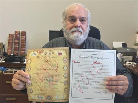Marriage Records San Antonio Bexar S Republican County Clerk Set To Greet Same