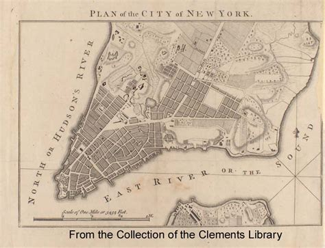new york 1776 map plan of the city of new york