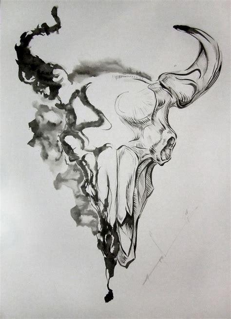 fantastic amazing bull skull tattoo best 25 bull skull tattoos ideas on cow skull