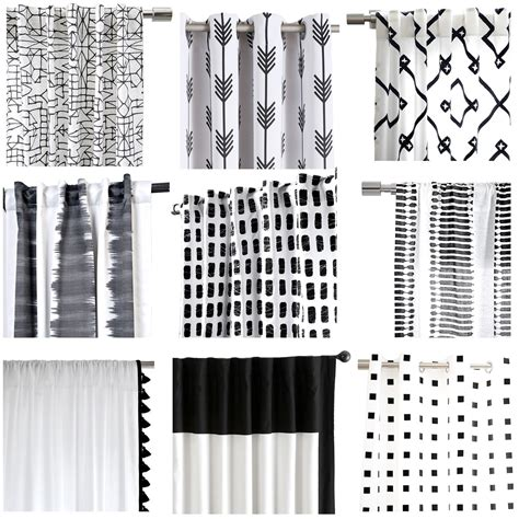 black and white drapery panels my favorite black and white curtains cuckoo4design