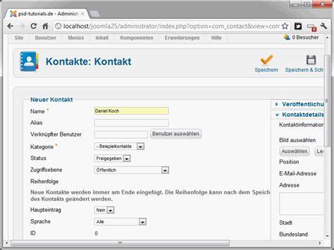 Manual De Joomla 2 5 | joomla 2 5 teil 22 kontaktformulare anlegen joomla