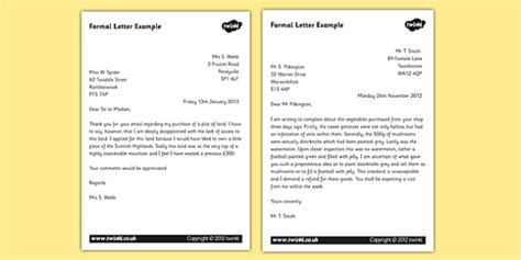 formal letter examples teacher
