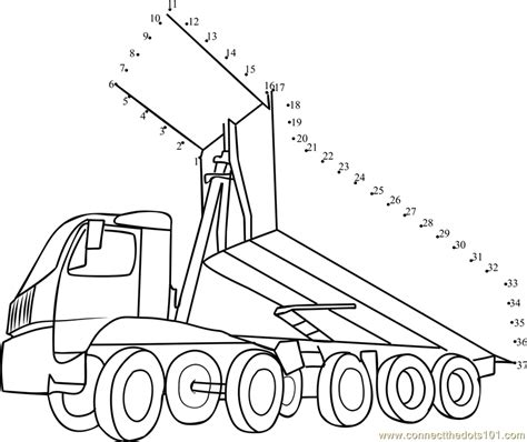 printable dot to dot truck dump truck dot to dot printable worksheet connect the dots