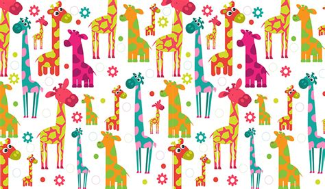 Peel And Stick Wallpaper Reviews Cartoon Giraffes Wall Mural Patterned Wallpapers Custom