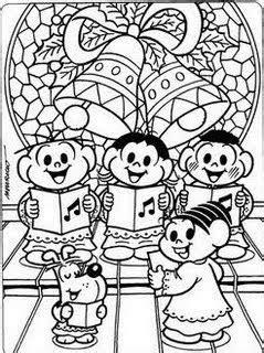 Desenhos de Natal da Turma da Monica II - Sou Catequista