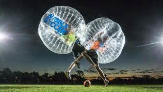 Bubble soccer her campus