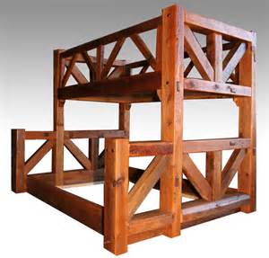 A Frame Bunk Bed Rustic Bunk Bed Reclaimed Solid Wood Cabin Furnishings