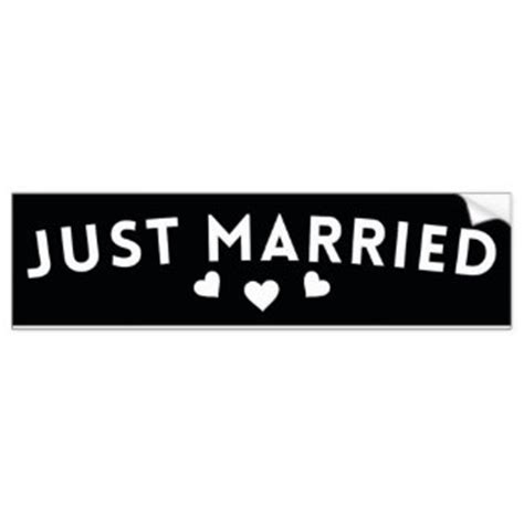 Aufkleber Just Married by Just Married Bumper Stickers Just Married Bumper Sticker