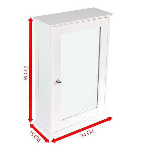 Single White Cupboard Bathroom Cabinet Single Door Wall Mounted Tallboy