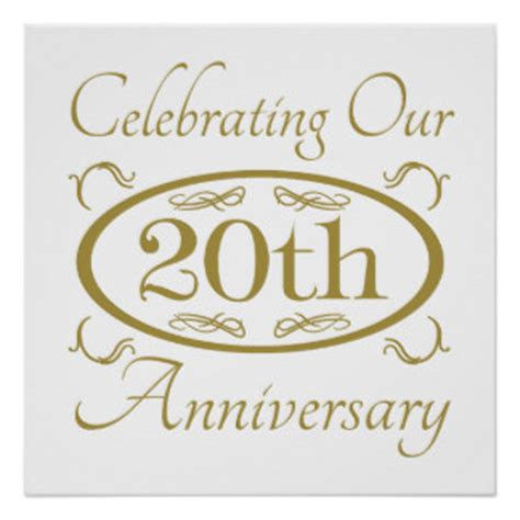 20th Anniversary Wedding by 20th Wedding Anniversary Posters Zazzle