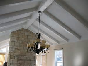 pitched ceiling with beams ceilings
