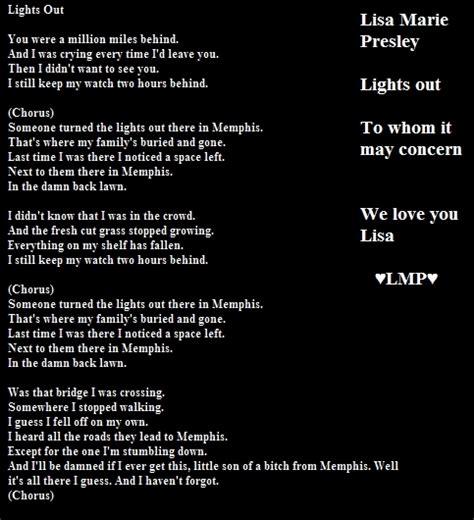 Lights Out Words lights out lyrics fan 23187071