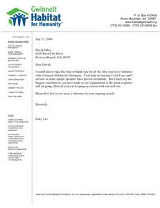 Letter Of Recommendation For A Volunteer by Reference Letter Habitat For Humanity