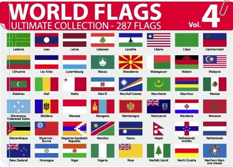 flags of the world vector eps various of world flags vector set free vector in