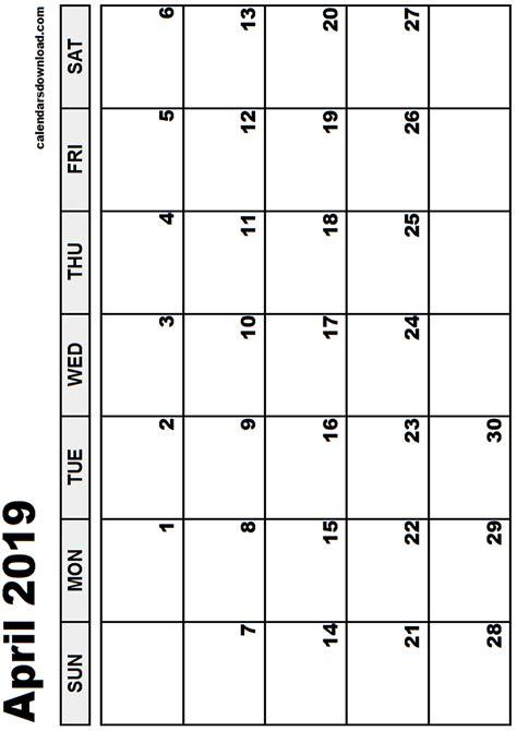 printable calendar april 2018 to march 2019 april 2019 calendar