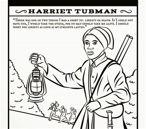 coloring page for harriet tubman harriet tubman sheet coloring pages