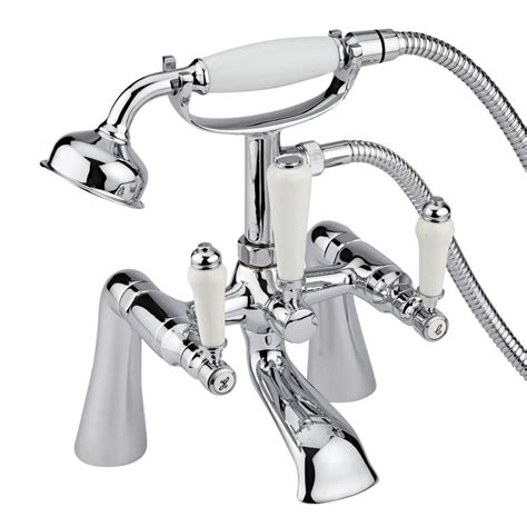 Milano Traditional Lever Bath Shower Mixer Deck Or Wall Bathroom Shower Mixer Taps